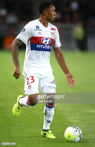 Kenny Tete of Lyon during the French Ligue 1 match between Stade Rennais and Olympique Lyonnais at Roazhon Park on August 11 2017 in Rennes France