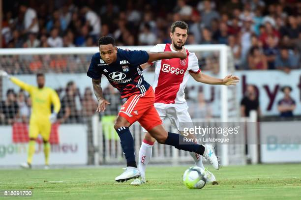 Kenny Tete of Lyon during the friendly match between Olympique Lyonnais Lyon and Ajax Amsterdam on July 18 2017 in BourgoinJallieu France
