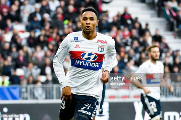 Kenny Tete of Lyon during the Ligue 1 match between OGC Nice and Olympique Lyonnais at Allianz Riviera on November 26 2017 in Nice