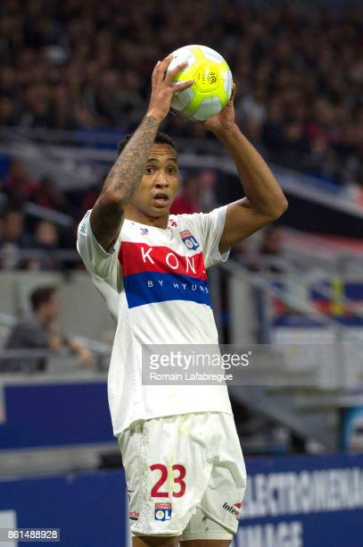 Kenny Tete of Lyon during the Ligue 1 match between Olympique Lyonnais and AS Monaco at Stade des Lumieres on October 13 2017 in Lyon