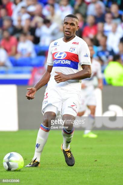 Kenny Tete of Lyon during the Ligue 1 match between Olympique Lyonnais and EA Guingamp at Parc Olympique on September 10 2017 in Lyon France