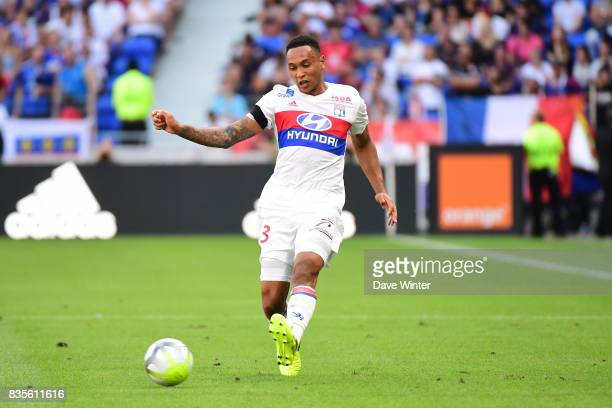 Kenny Tete of Lyon during the Ligue 1 match between Olympique Lyonnais and FC Girondins de Bordeaux at Groupama Stadium on August 19 2017 in Lyon