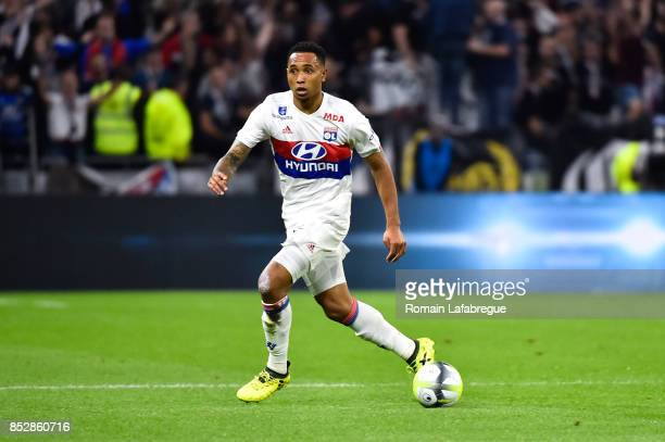 Kenny Tete of Lyon during the Ligue 1 match between Olympique Lyonnais and Dijon FCO at Parc Olympique on September 23 2017 in Lyon