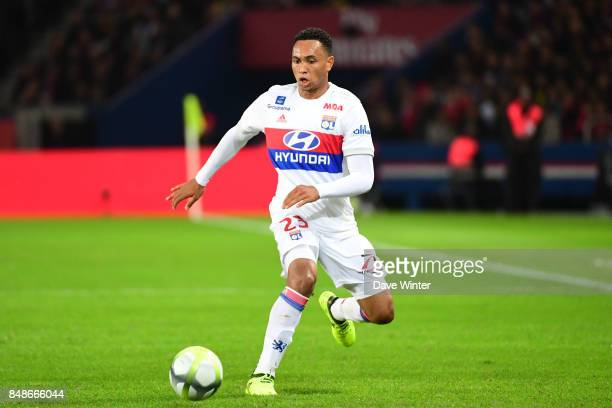 Kenny Tete of Lyon during the Ligue 1 match between Paris Saint Germain and Olympique Lyonnais at Parc des Princes on September 17 2017 in Paris...