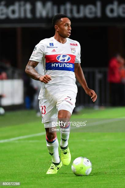 Kenny Tete of Lyon during the Ligue 1 match between Stade Rennais and Olympique Lyonnais at Roazhon Park on August 11 2017 in Rennes