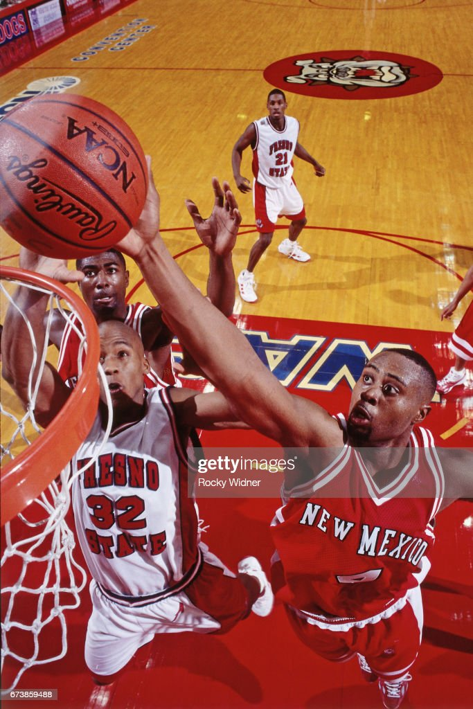 Kenny Thomas of New Mexico shoots the ball against Fresno State on January 4, 1999 at Selland Arena in Fresno, California.
