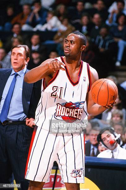 Kenny Thomas of the Houston Rockets during the game against the Vancouver Grizzlies on December 6 1999 at Compaq Center in Houston Texas