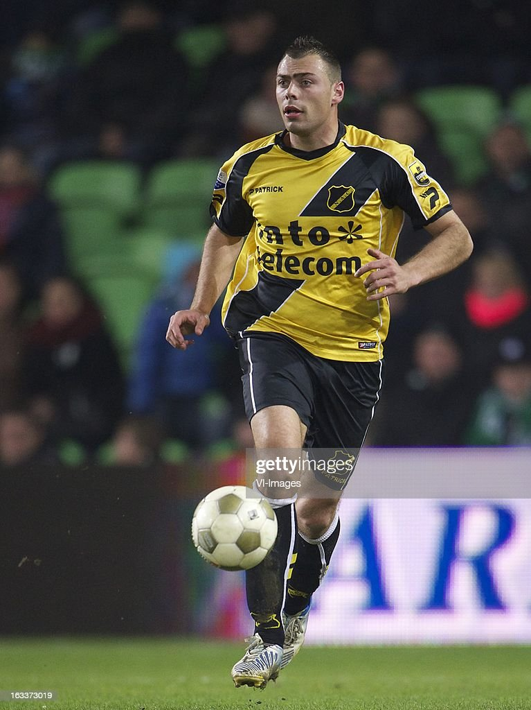 Kenny van der Weg of NAC Breda during the Dutch Eredivisie match between FC Groningen and NAC Breda at the Euroborg on march 08, 2013 in Groningen, The Netherlands