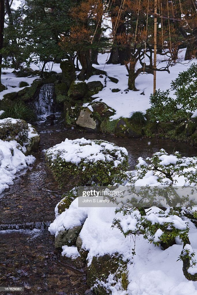 Kenrokuen the 'Six Attributes Garden' is one of the Three Great Gardens of Japan along with Kairakuen and Korakuen