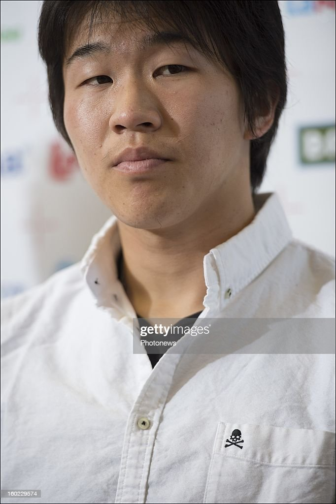 <a gi-track='captionPersonalityLinkClicked' href=/galleries/search?phrase=Kensuke+Nagai&family=editorial&specificpeople=6548859 ng-click='$event.stopPropagation()'>Kensuke Nagai</a> appears during an official presentation as new player of Standard Liege on January 28, 2013 in Liege, Belgium.