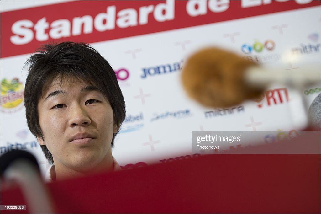 Kensuke Nagai appears during an official presentation as new player of Standard Liege on January 28, 2013 in Liege, Belgium.