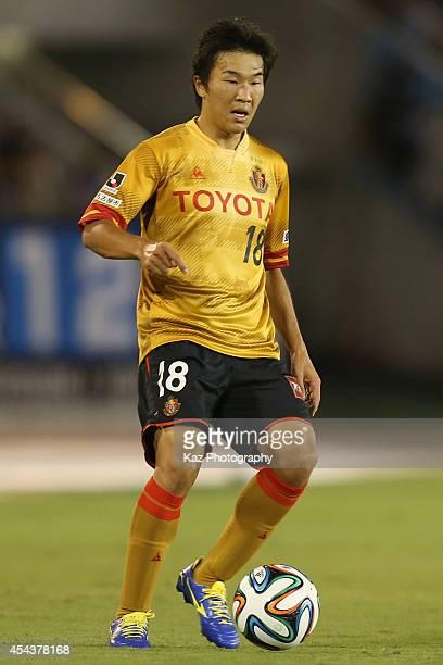 Kensuke Nagai of Nagoya Grampus in action during the JLeague match between Nagoya Grampus and Kawasaki Frontale at Mizuho Stadium on August 30 2014...