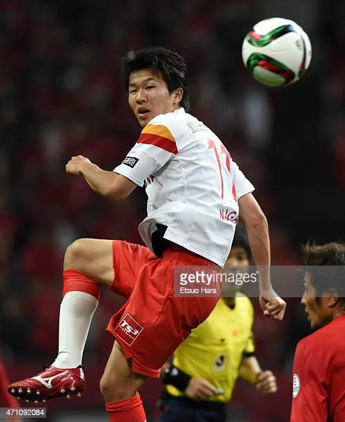 Kensuke Nagai of Nagoya Grampus in action during the JLeague match between Urawa Red Diamonds and Nagoya Grampus at Saitama Stadium on April 25 2015...