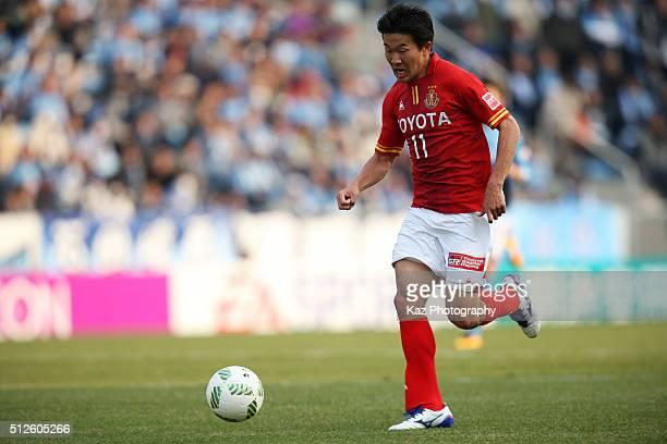 Kensuke Nagai of Nagoya Grampus in action during the JLeague match between Jubilo Iwata and Nagoya Grampus at the Yamaha Stadium on February 27 2016...