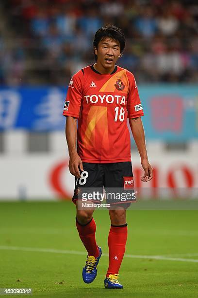 Kensuke Nagai of Nagoya Grampus looks on during the J League match between Sagan Tosu and Nagoya Grampus at Tosu Stadium on August 2 2014 in Tosu...