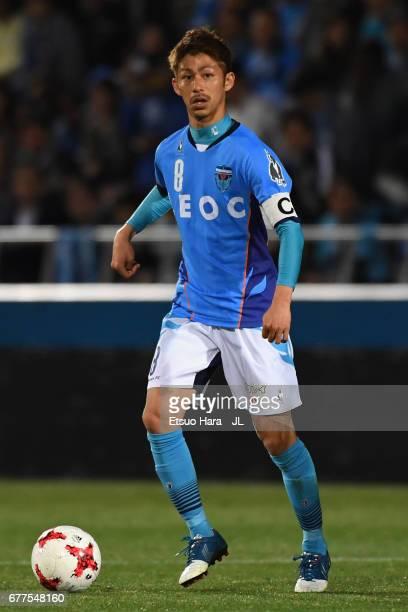 Kensuke Sato of Yokohama FC in action during the JLeague J2 match between Yokohama FC and Ehime FC at Nippatsu Mitsuzawa Stadium on May 3 2017 in...