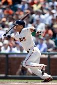 Kensuke Tanaka of the San Francisco Giants bats against the New York Mets at ATT Park on July 10 2013 in San Francisco California