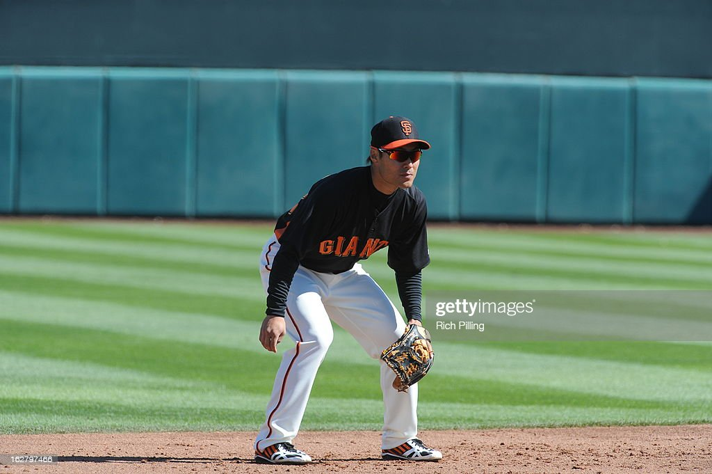 Kensuke Tanaka #88 of the San Francisco Giants is seen prior to the game against the Chicago White Sox on Monday, February 25, 2013 at Scottsdale Stadium in Scottsdale, Arizona. The Giants and White Sox played to a 9-9 tie.