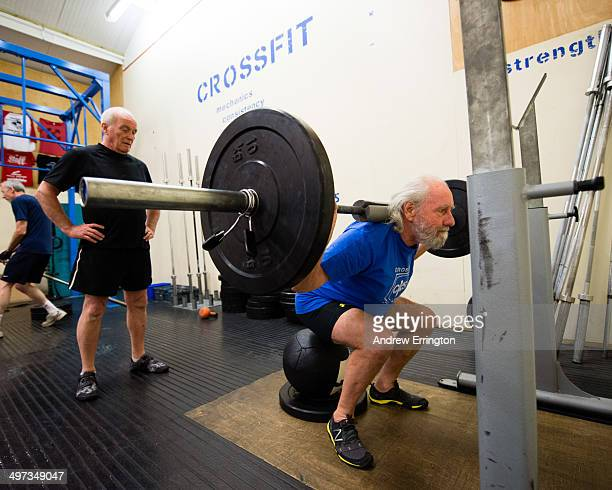 Kent and Sussex Crossfit gym Man 7080 years weight training