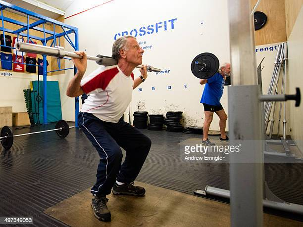 Kent and Sussex Crossfit gym Man aged 82 years old training
