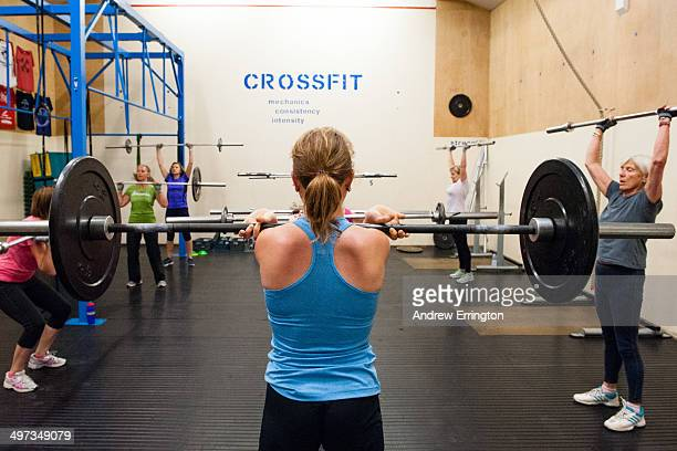 Kent and Sussex Crossfit gym Women working out with weights