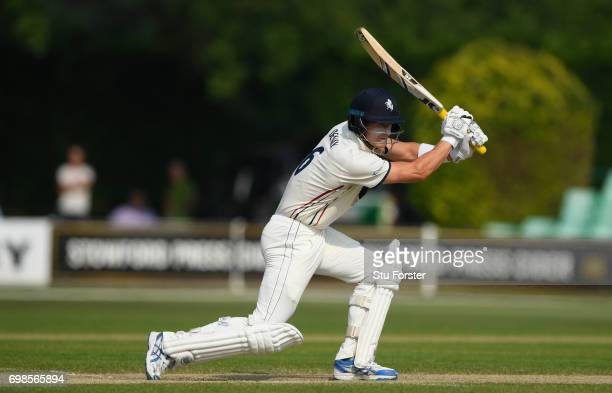 Kent batsman Joe Denly in action during the Specsavers County Championship Division Two between Worcestershire and Kent at New Road on June 20 2017...