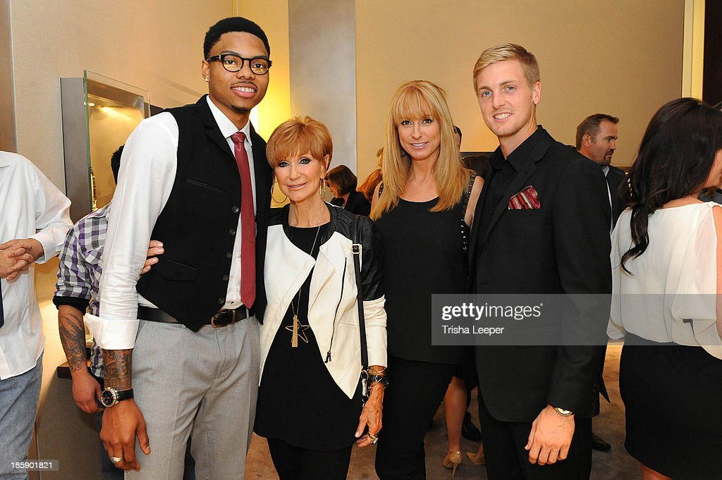 Kent Bazemore, Beverly Zeiss, Erin Eckert and Evan Newton attend the David Yurman Launch of The Meteorite Collection With Kent Bazemore at Westfield Valley Fair on October 25, 2013 in Santa Clara, California.