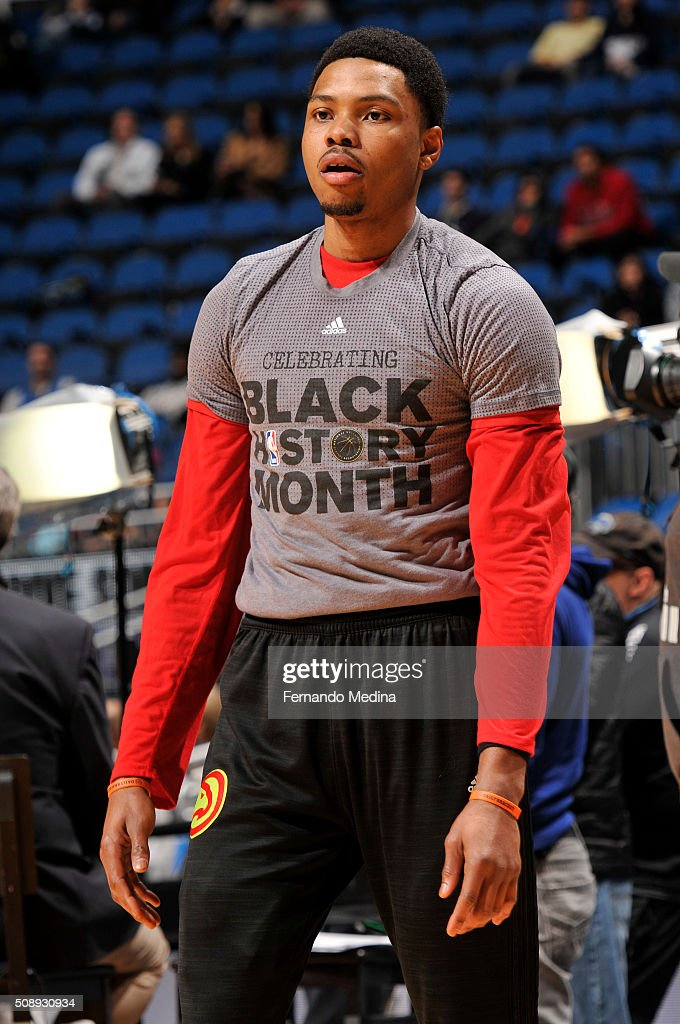 <a gi-track='captionPersonalityLinkClicked' href=/galleries/search?phrase=Kent+Bazemore&family=editorial&specificpeople=6846101 ng-click='$event.stopPropagation()'>Kent Bazemore</a> #24 of the Atlanta Hawks before the game against the Orlando Magic on February 7, 2016 at the Amway Center in Orlando, Florida.