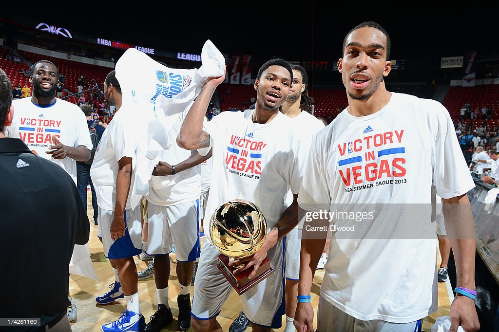 Kent Bazemore #20 of the Golden State Warriors walks off the court after winning the game against the Phoenix Suns during NBA Summer League Championship Game on July 22, 2013 at the Cox Pavilion in Las Vegas, Nevada.