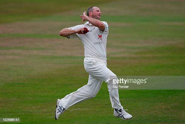 Kent bowler Darren Stevens in action during day one of the LV County Championship division one match between Somerset and Kent at the County ground...
