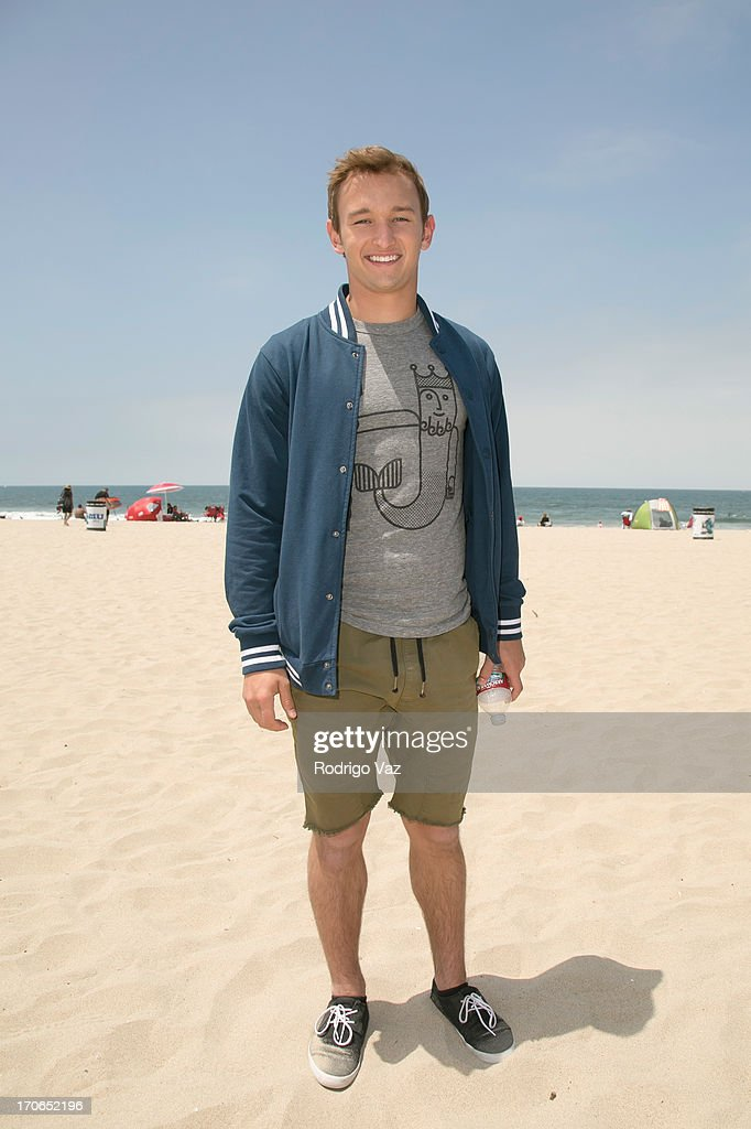 Kent Boyd, star of Disney's 'Teen Beach Movie' joins Heal The Bay for beach clean up on June 15, 2013 in Venice, California.
