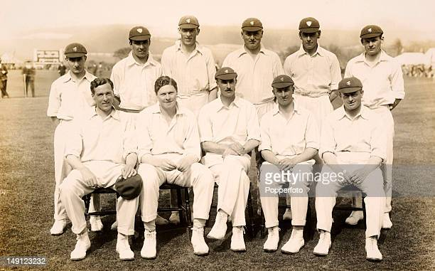 Kent county cricket team prior to their match against Worcestershire at Folkestone 4th May 1927 Kent won by an innings and 89 runs Back row Percy...