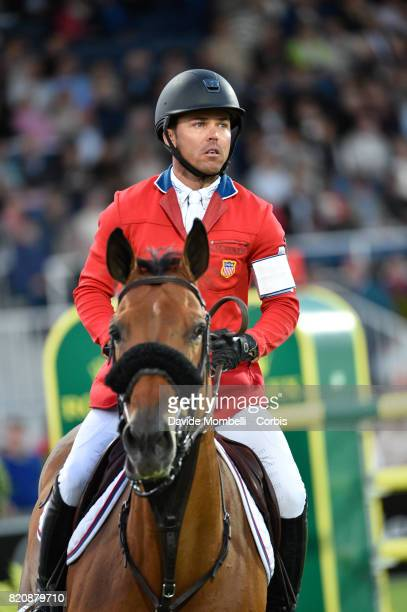 Kent Farrington of United States of America riding Gazelle during CHIO MercedesBenz Nations Cup on July 20 2017 in Aachen Germany