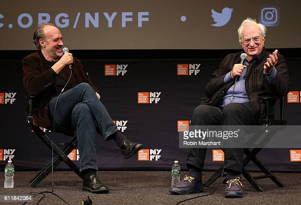 Kent Jones and director Bertrand Tavernier attends the 54th New York Film Festival's intro and QA for 'A Brief Journey through French Cinema' at The...