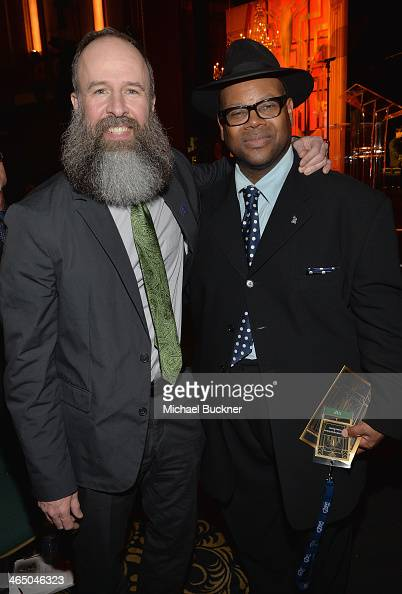 Kent Knappenberger and Jimmy Jam attend the Special Merit Awards Ceremony as part of the 56th GRAMMY Awards on January 25 2014 in Los Angeles...