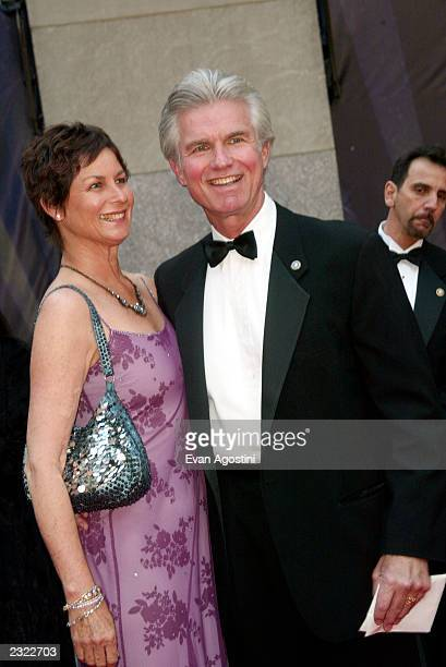 Kent Mccord with wife arriving at the NBC 75th Anniversary Celebration at Rockefeller Plaza in New York City May 5 2002 Photo Evan...