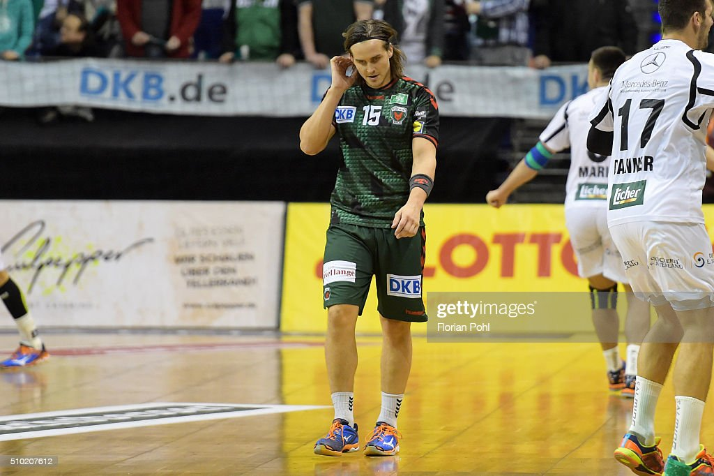 Kent Robin Toennesen of Fuechse Berlin during the game between Fuechse Berlin and MT Melsungen on February 14, 2016 in Berlin, Germany.