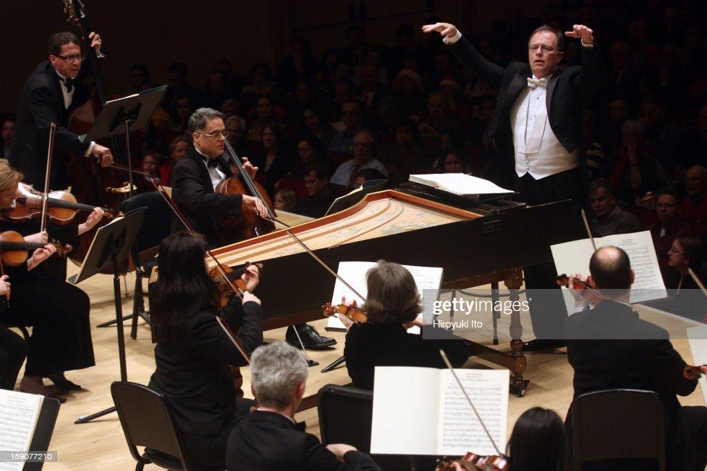 Kent Tritle leading Musica Sacra in Handel's 'Messiah' at Carnegie Hall on Thursday night, December 20, 2012.