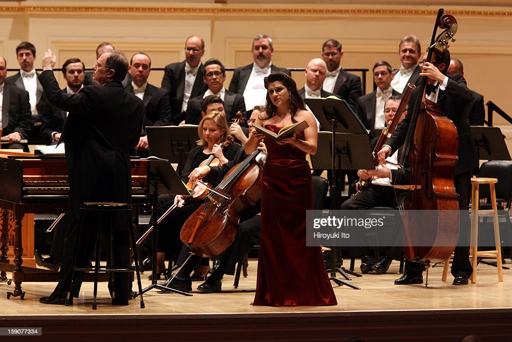 Kent Tritle leading the soprano Katheryn Lewek and Musica Sacra in Handel's 'Messiah' at Carnegie Hall on Thursday night, December 20, 2012.