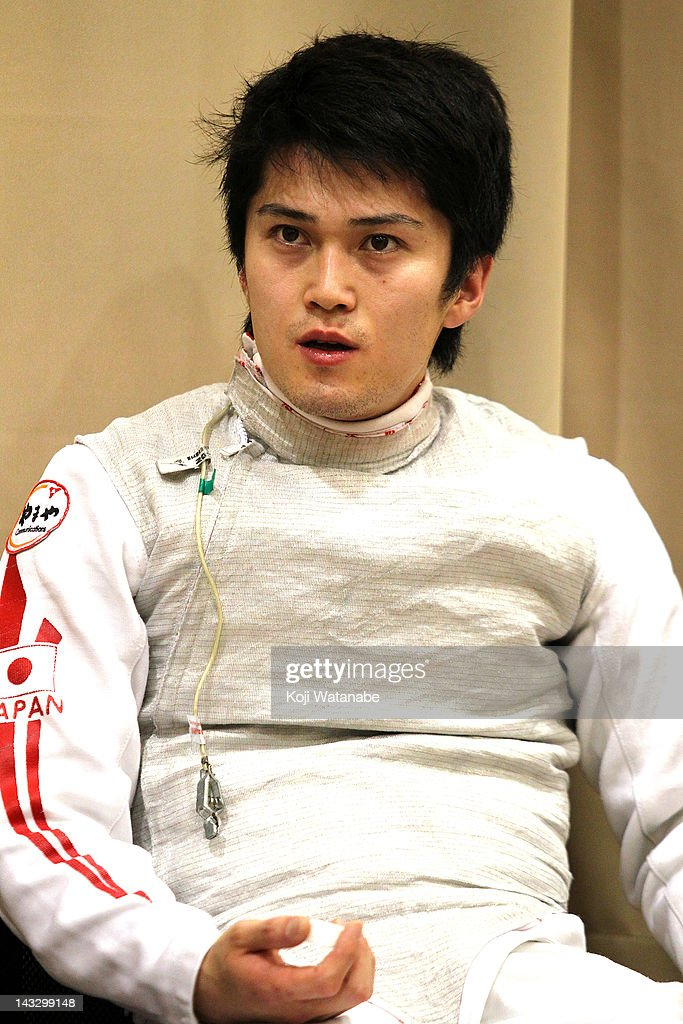 <a gi-track='captionPersonalityLinkClicked' href=/galleries/search?phrase=Kenta+Chida&family=editorial&specificpeople=4073098 ng-click='$event.stopPropagation()'>Kenta Chida</a> of Japan looks on in the Men's Foil individual pool on day two of the 2012 Asian Fencing Championships at Wakayama Big Wave on April 23, 2012 in Wakayama, Japan.