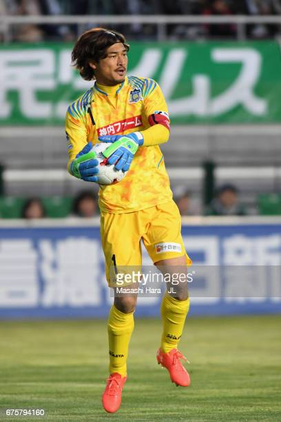 Kenta Shimizu of Kamatamare Sanuki in action during the JLeague J2 match between Matsumoto Yamaga and Kamatamare Sanuki at Matsumotodaira Park...