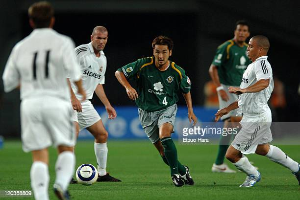 Kentaro Hayashi of Tokyo Verdy 1969 in action during the preseason friendly match between Tokyo Verdy 1969 and Real Madrid at Ajinomoto Stadium on...