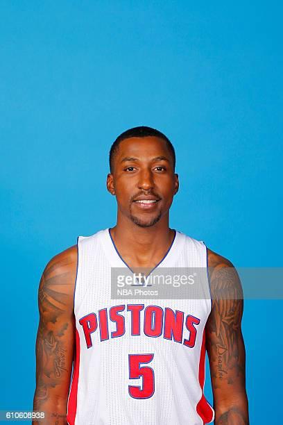 Kentavious CaldwellPope of the Detroit Pistons poses for a headshot during the 20162017 Detroit Pistons Media Day on September 26 2016 in Auburn...