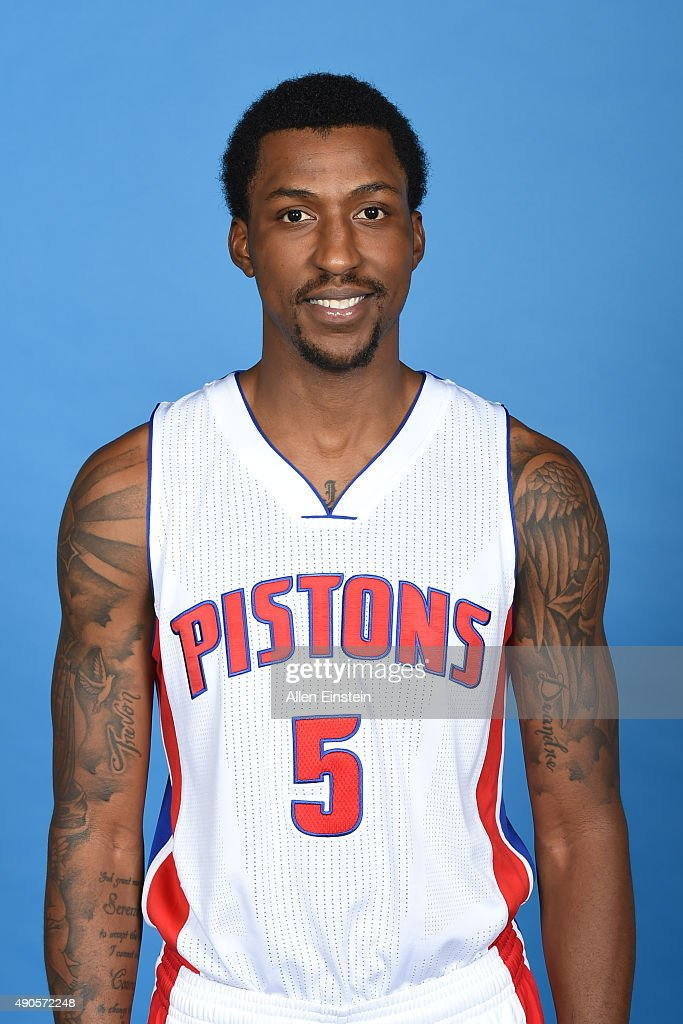 <a gi-track='captionPersonalityLinkClicked' href=/galleries/search?phrase=Kentavious+Caldwell-Pope&family=editorial&specificpeople=7621166 ng-click='$event.stopPropagation()'>Kentavious Caldwell-Pope</a> #5 of the Detroit Pistons poses for a portrait during media day on September 28, 2015 at The Palace of Auburn Hills in Auburn Hills, Michigan.