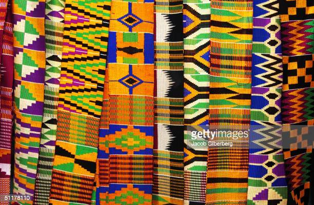 Kente cloth is display in eastern Ghana May 13 2004 Ghana is the most tourist friendly country in Anglophone West Africa boasting warm and friendly...