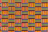 Traditional kente cloth or nwentom texture of Ghana.