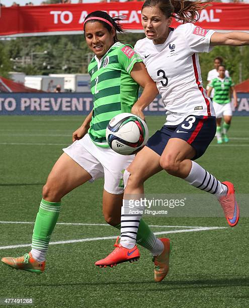 Kenti Robles of Mexico defends against Laure Boulleau of France during the FIFA Women's World Cup Canada 2015 Group F match between Mexico and France...