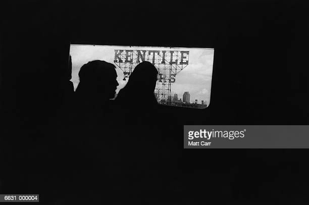 Kentile Sign from Train Window