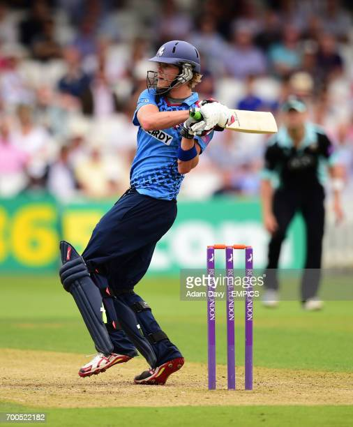 Kent's Sam Northeast hits out for four runs