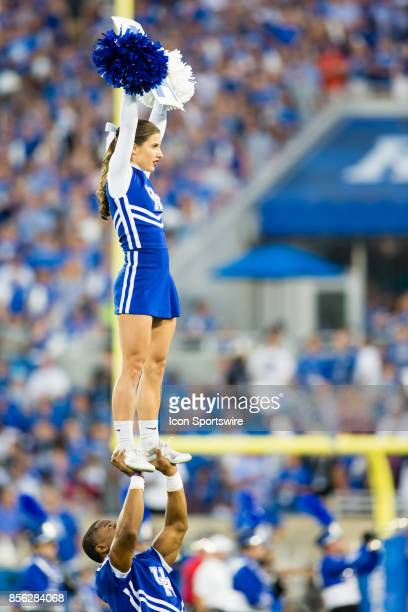 Kentucky Cheer Squad performing for the hometown crowd during a regular season college football game between the Florida Gators and the Kentucky...